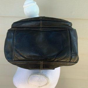 Fossil Bags - Vtg Fossil Black Lthr Shoulder Bag Handbag Purse